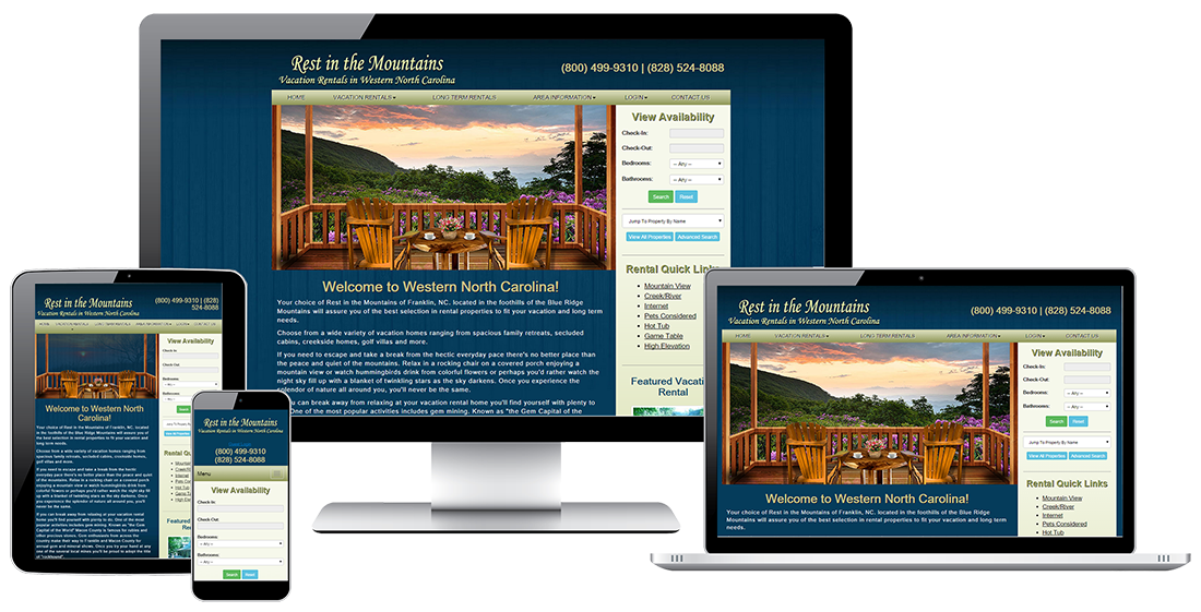 Rest in the Mountains Vacation Rentals