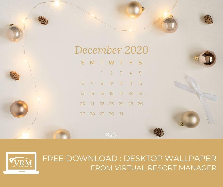 December VRM Monthly Marketing Planner and Free Desktop Wallpaper Calendars