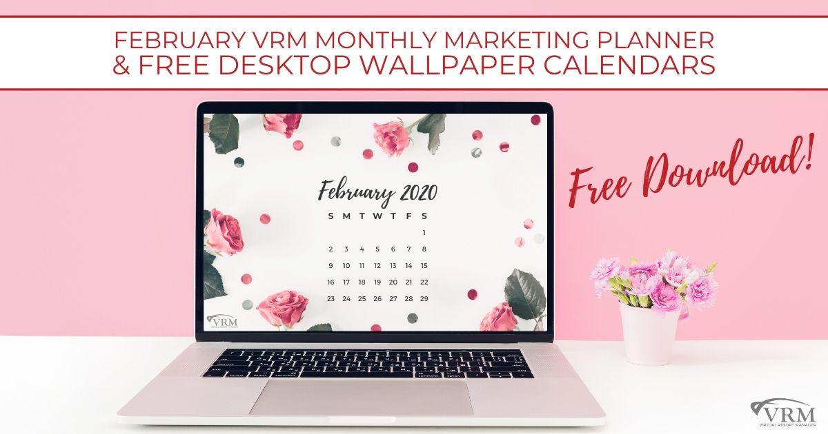 vrm header free february 2020 desktop calendar
