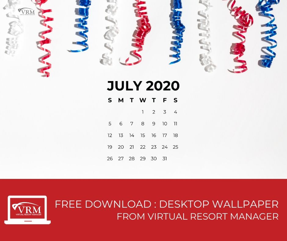 free july desktop calendar