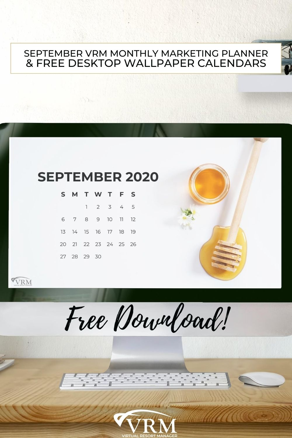 September VRM Monthly Marketing Planner and Free Desktop Wallpaper Calendars