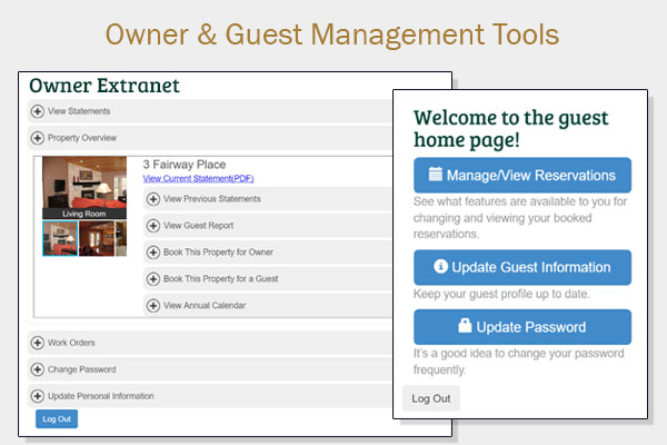 Guest and Owner Extranets