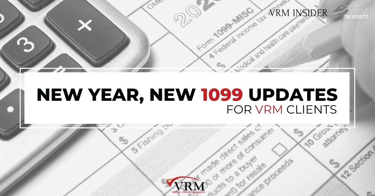 VRM Insider, New Year, New 1099 Updates for VRM Clients